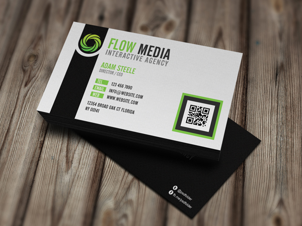 Flow-Media-Business-Cards-Green