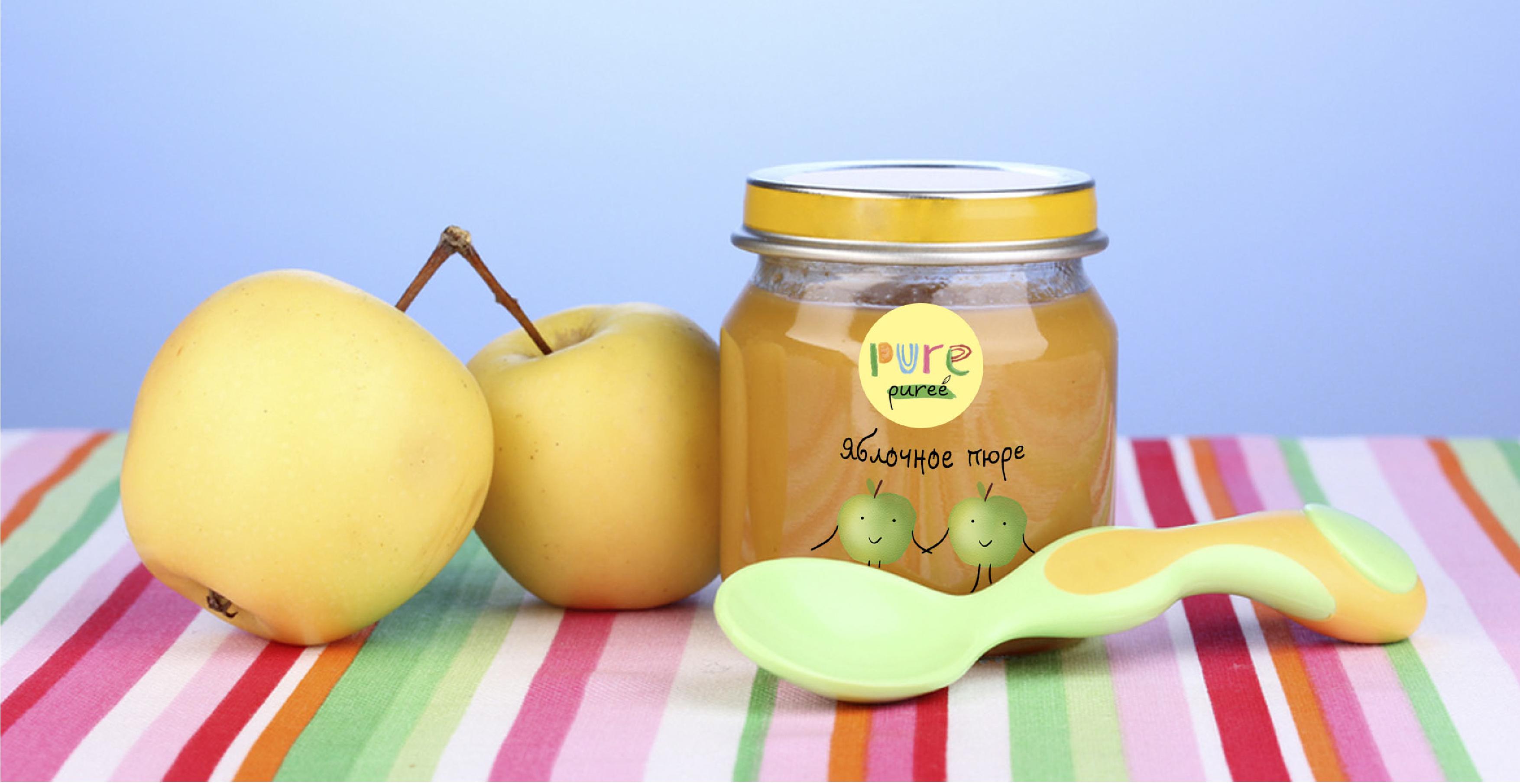 Яблочное пюре для детей своими руками